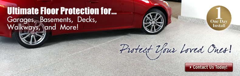 Polyurea garage floor coatings cure faster and are easier to